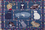 Patch Magic Kitty Cats Throw Quilt - THKTCT