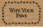 DeCoir Wipe Your Paws Coir Outdoor cat Doormat