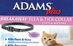 Adams Plus Breakaway Flea Tick Collar for Cats Kittens