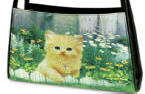 Orange Garden Cat Crescent Purse Cat Supplies and Products